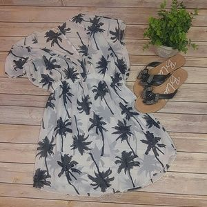 Black and white Palm tree Swimsuit coverup